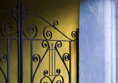 Blue And Yellow Gate