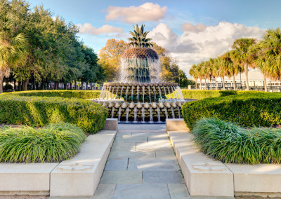 Charleston Waterfront Park Pineapple Fountain
