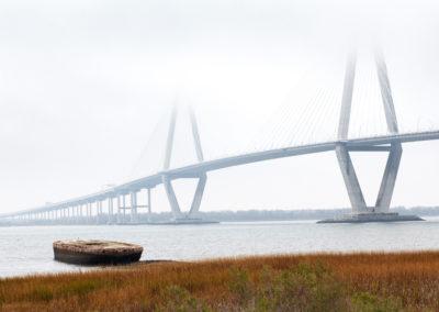 Ravenel Bridge and Fog